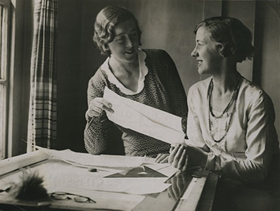 Norah Aiton and Betty Scott